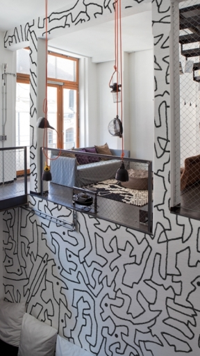 BLACK SPACES by Wall and Deco