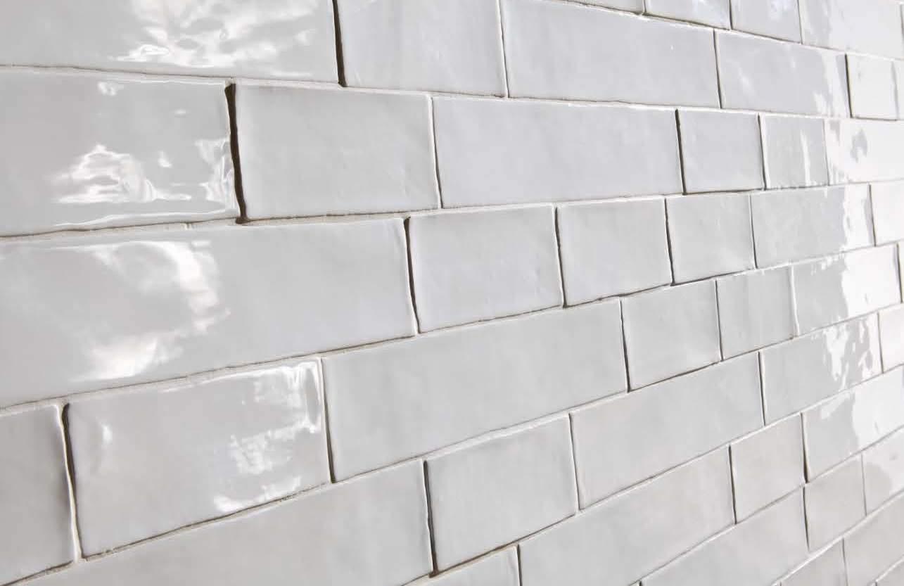 Kitchen Wall Tile Design Vintage Hammered Subway Tiles