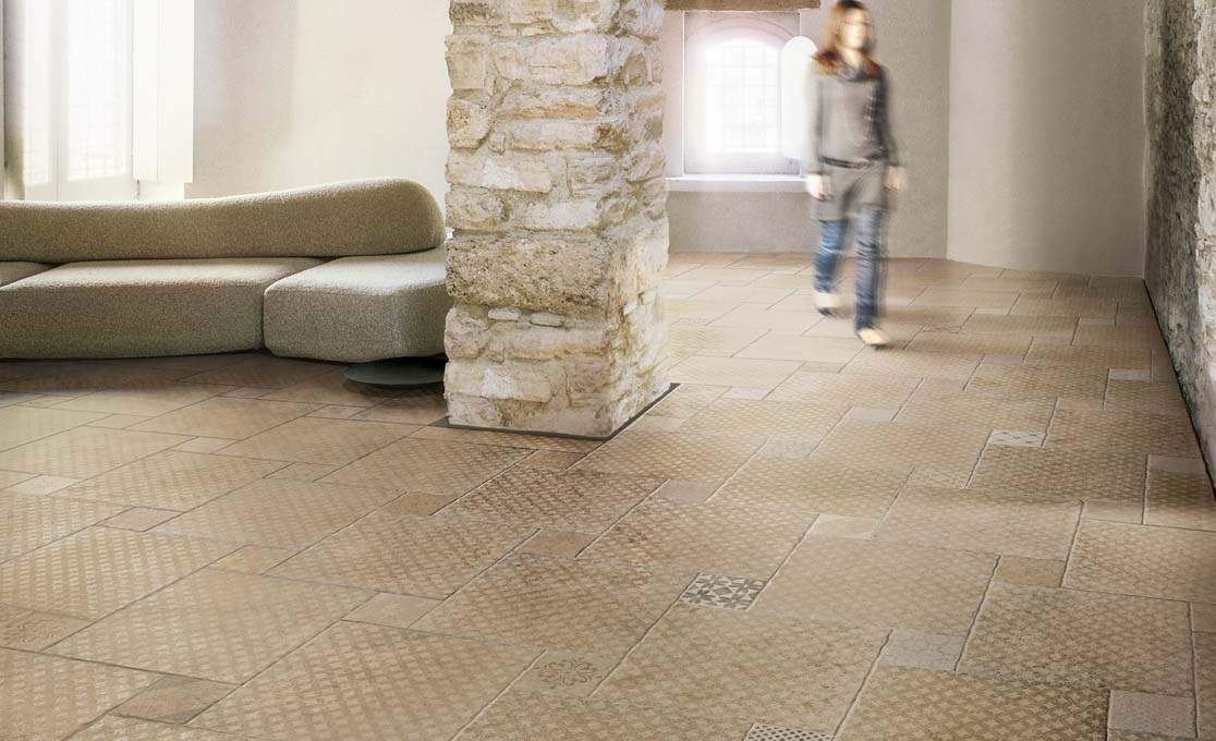 Dordogne flagstone tiles for Carrelage mouchete