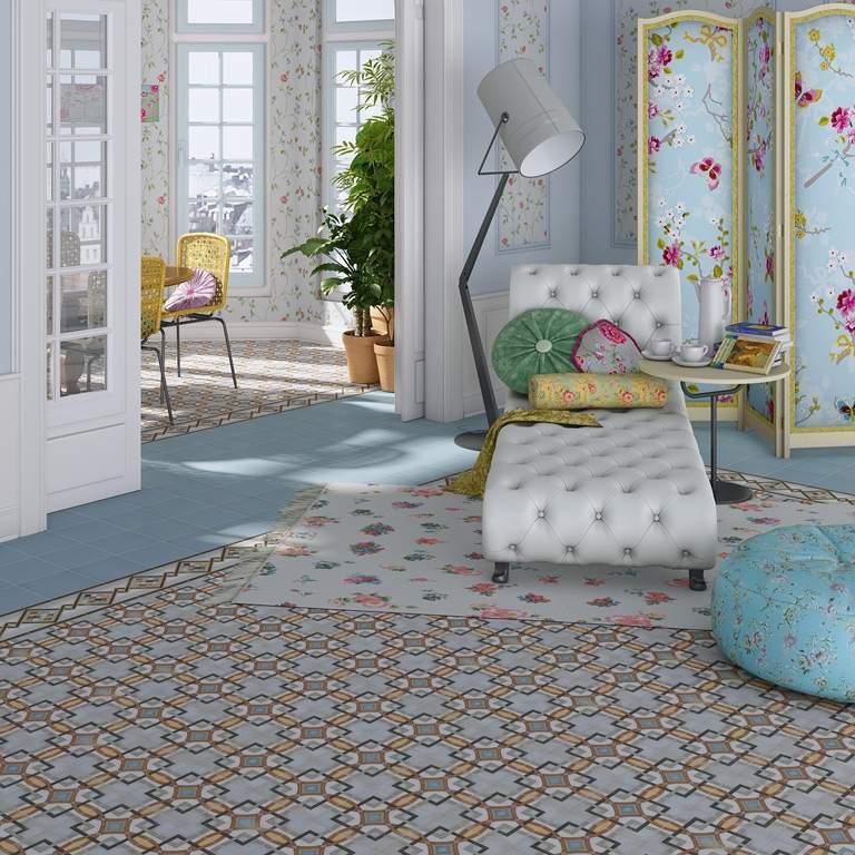 Bohemian encaustic tiles the vodevil collection for Carrelage 20x20 beige