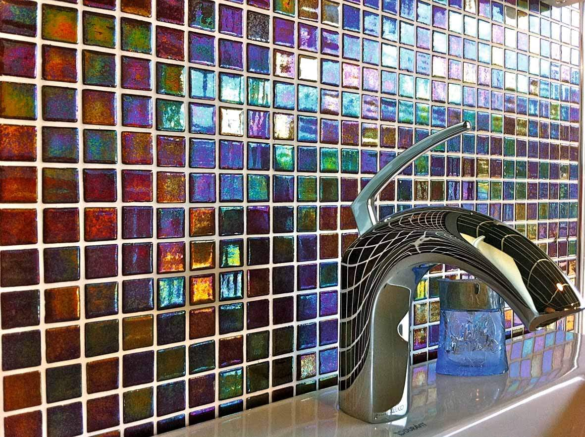Coloured Glass Mosaic Tiles