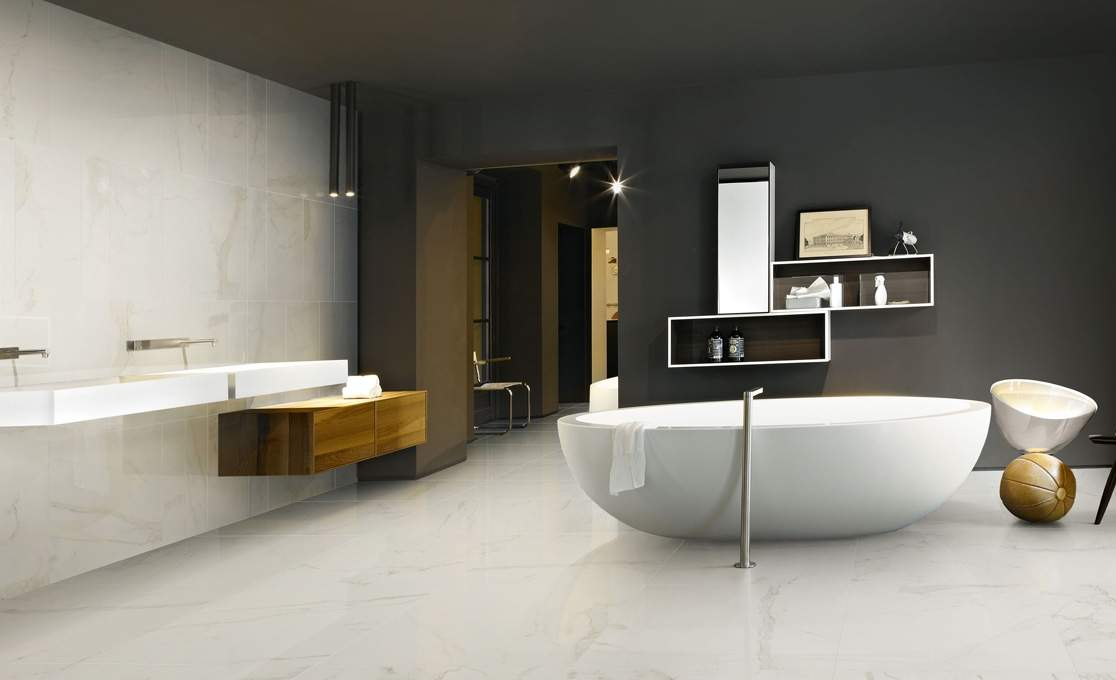White Statuario Marble Tiles Ireland No Maintenance