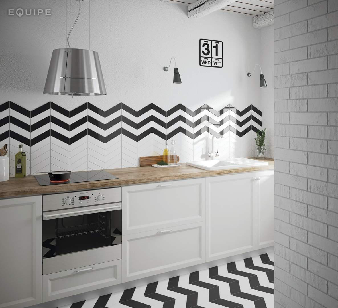 Herringbone subway tiles the chevron collection for Cuisine equip2e