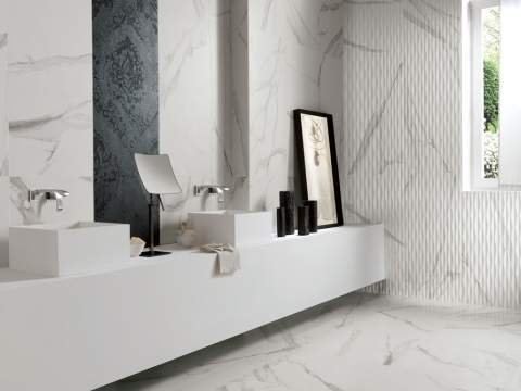 Lovely Matt Marble Wall And Floor Tiles   The Roma Collection