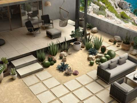 Outdoor Fossilsed Limestone Tiles The Key 2cm Collection