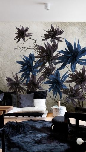 SILVER BLOSSOM by Wall and Deco