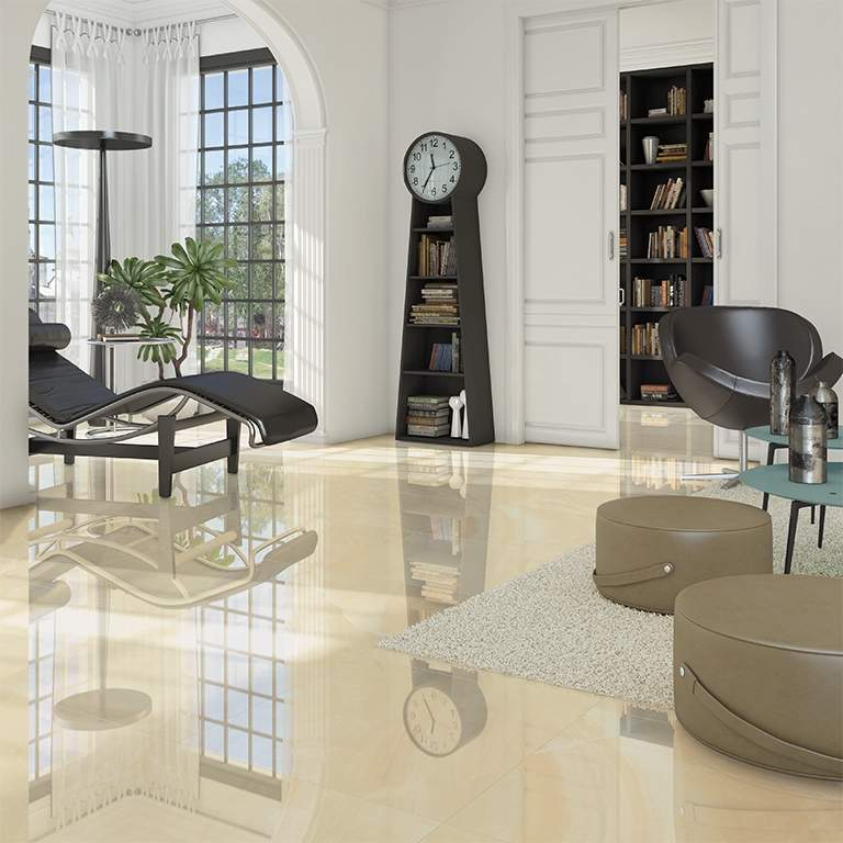 Cream Pollished Porcelain Tiles
