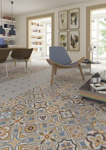 Multicolured Encastic Tiles