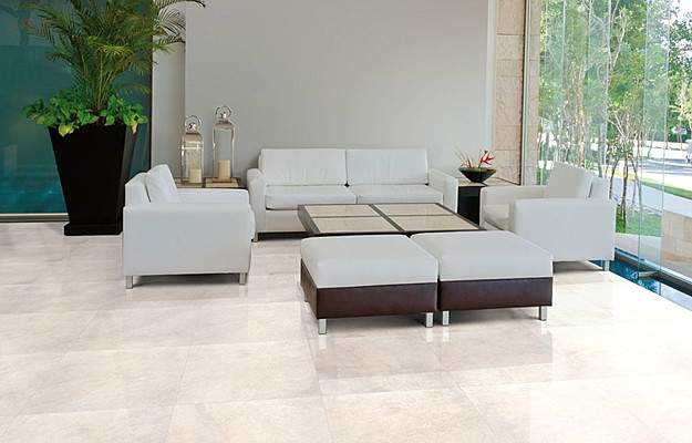 60x60 Cream Polished Porcelain Tiles