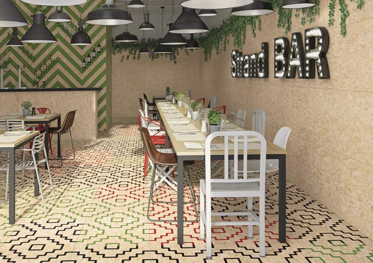 Chipboard Effect Tiles