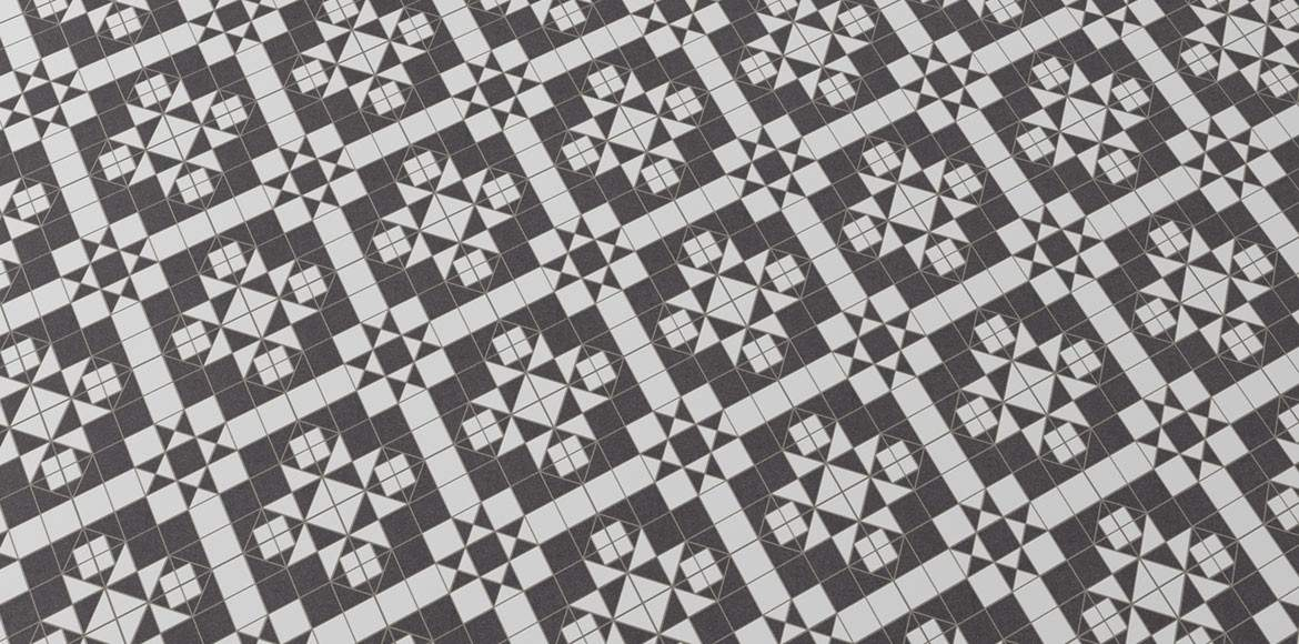 Vintage Black and White Tiles