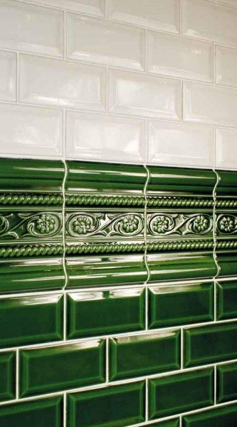 Green Victorian Metro Tile at Tiles.ie Dublin
