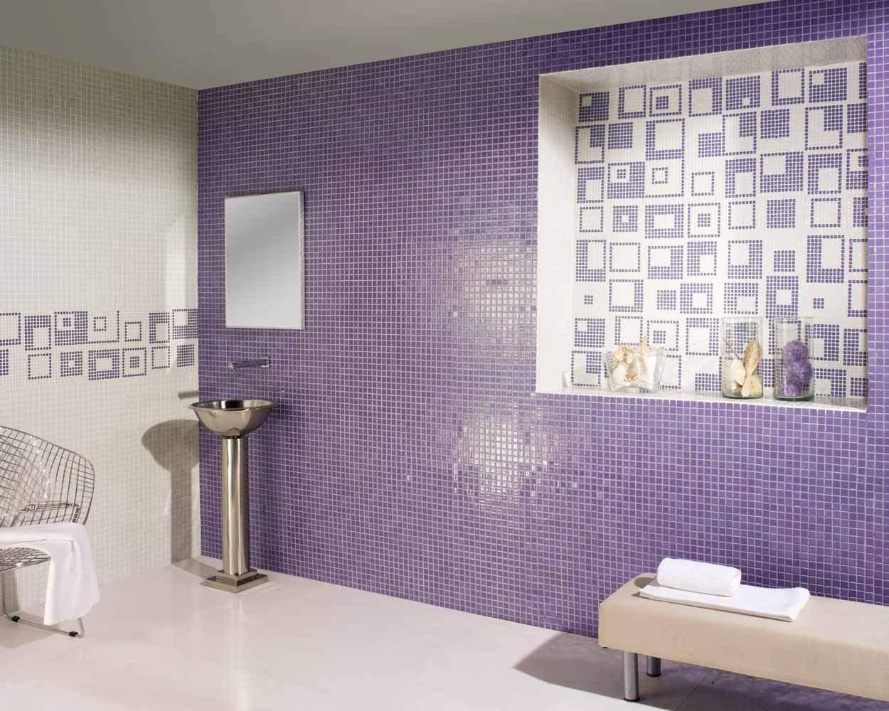 Vibrant Ambient Mosaic Tiles Purple Dublin