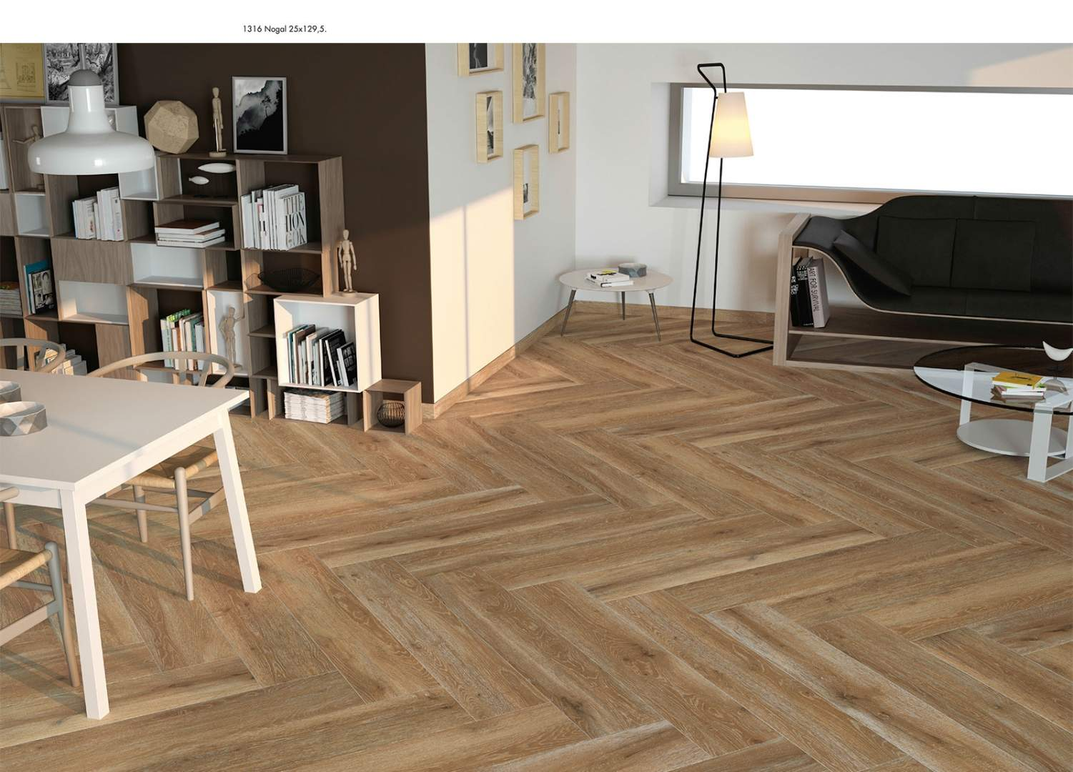 Herring Bone Oak Flooring at Italian Tile and Stone Dublin