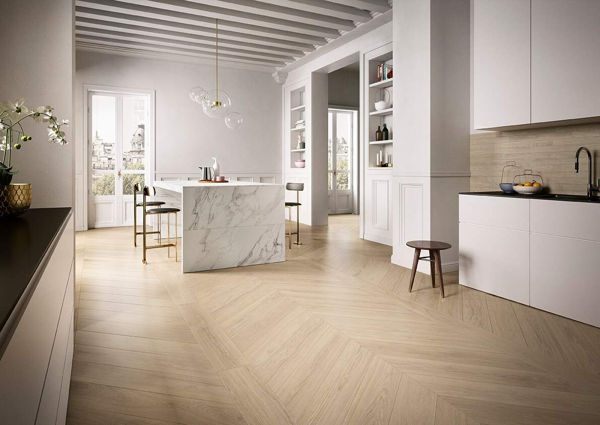 Chevron Wood Effect Tiles Dublin