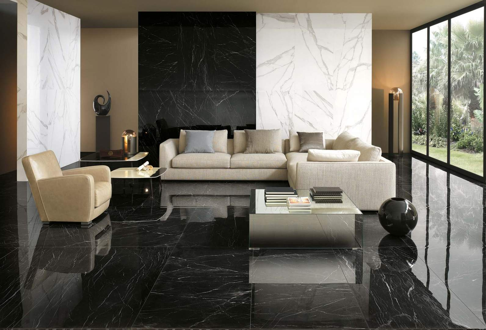 Black Polished Marble Tiles Dublin