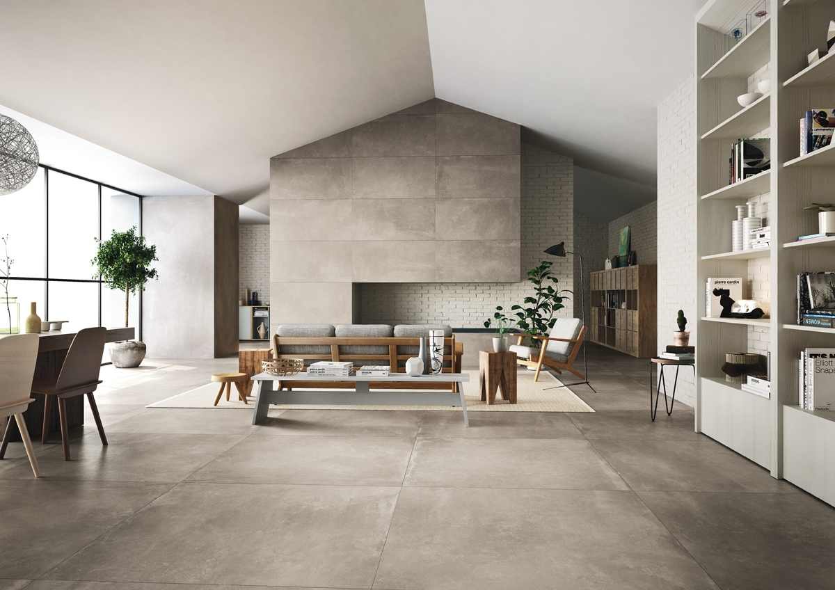 Concrete Tiles With Texture - The Azuma Collection Bright