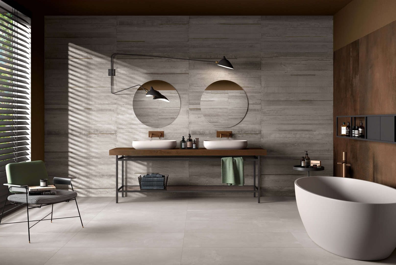 Metallic Ash Cement Style Tiles - Italian Tile and Stone Dublin