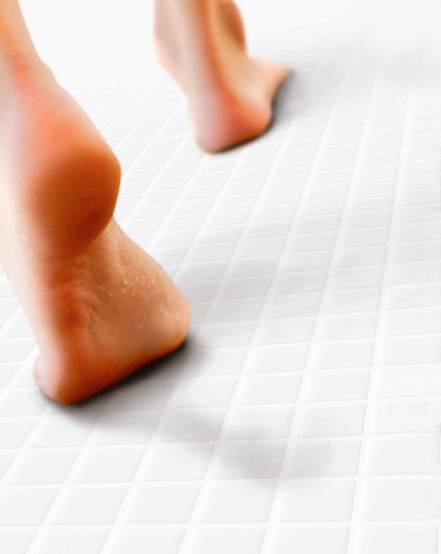 White Anti- Slip Mosaic Tiles