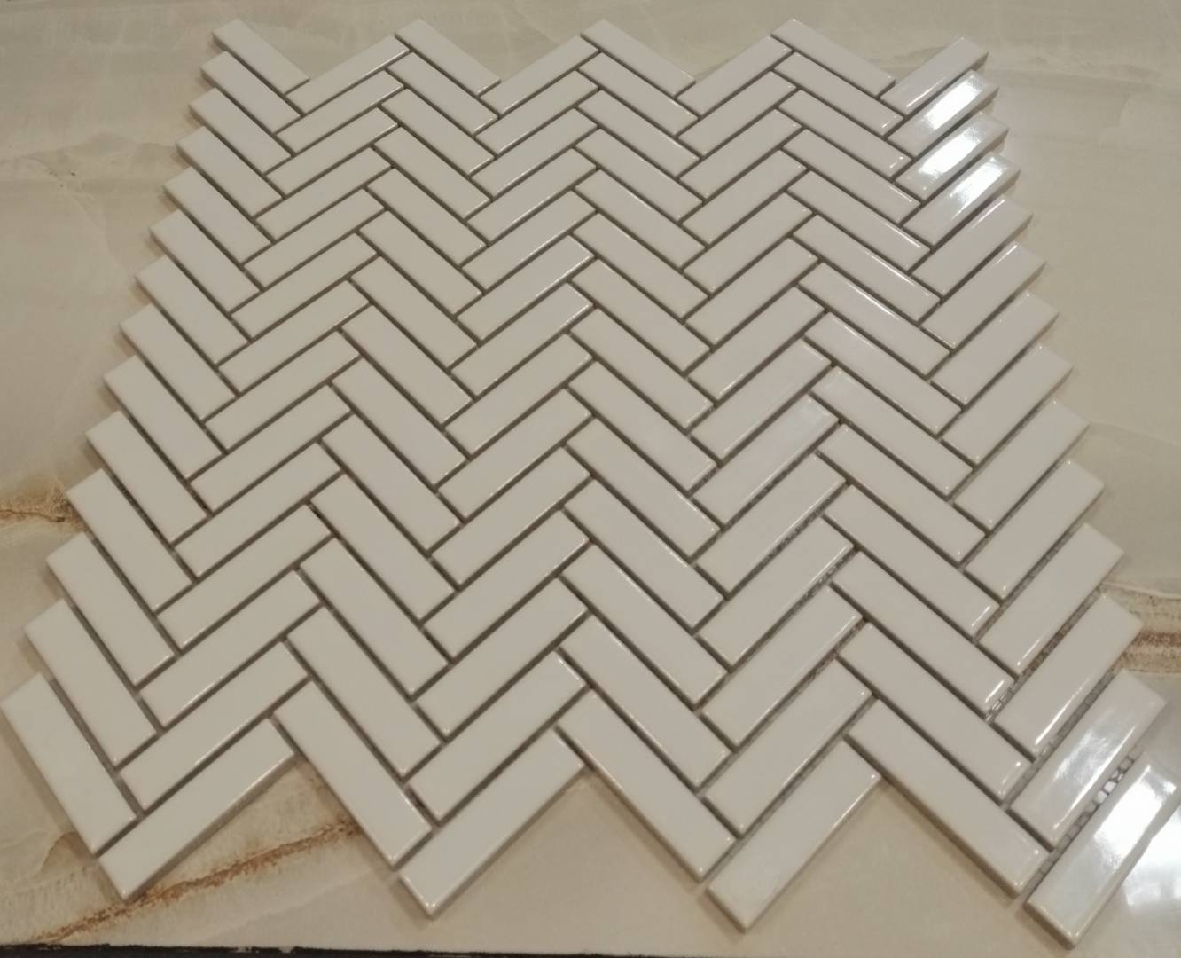 Chevron Mosaic Dublin Ireland Stock