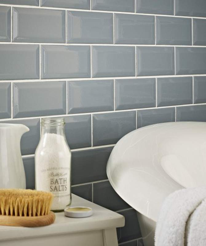 Dusty Blue Subway Tiles