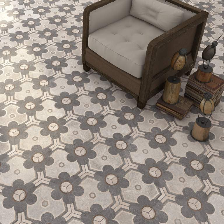 Vintage Hexagon Tiles at Italian Tile and Stone Dublin