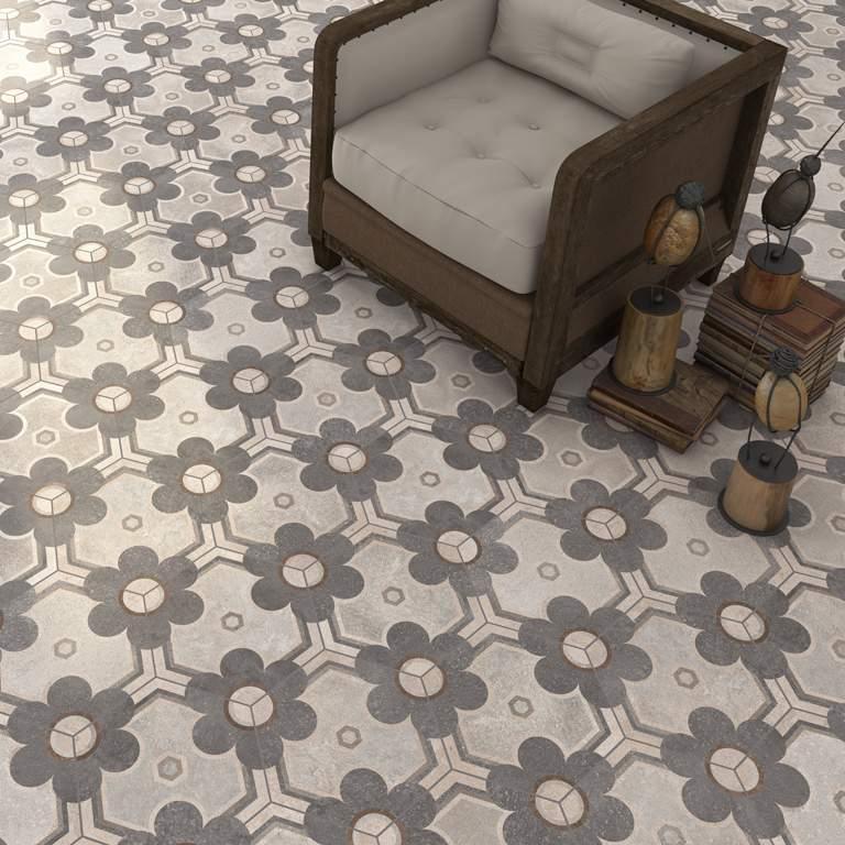 Vintage Hexagon Tiles