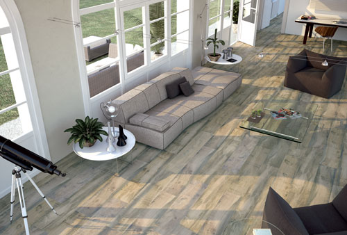 Distressed Wooden Flooring Tiles