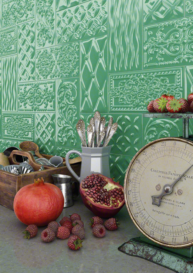 Tile Trends for 2014 Embossed Subway Tiles
