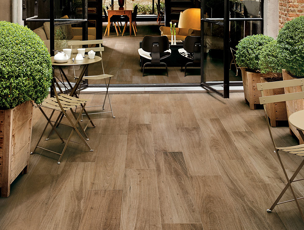 Outdoor Wood Effect Porcelain Tiles