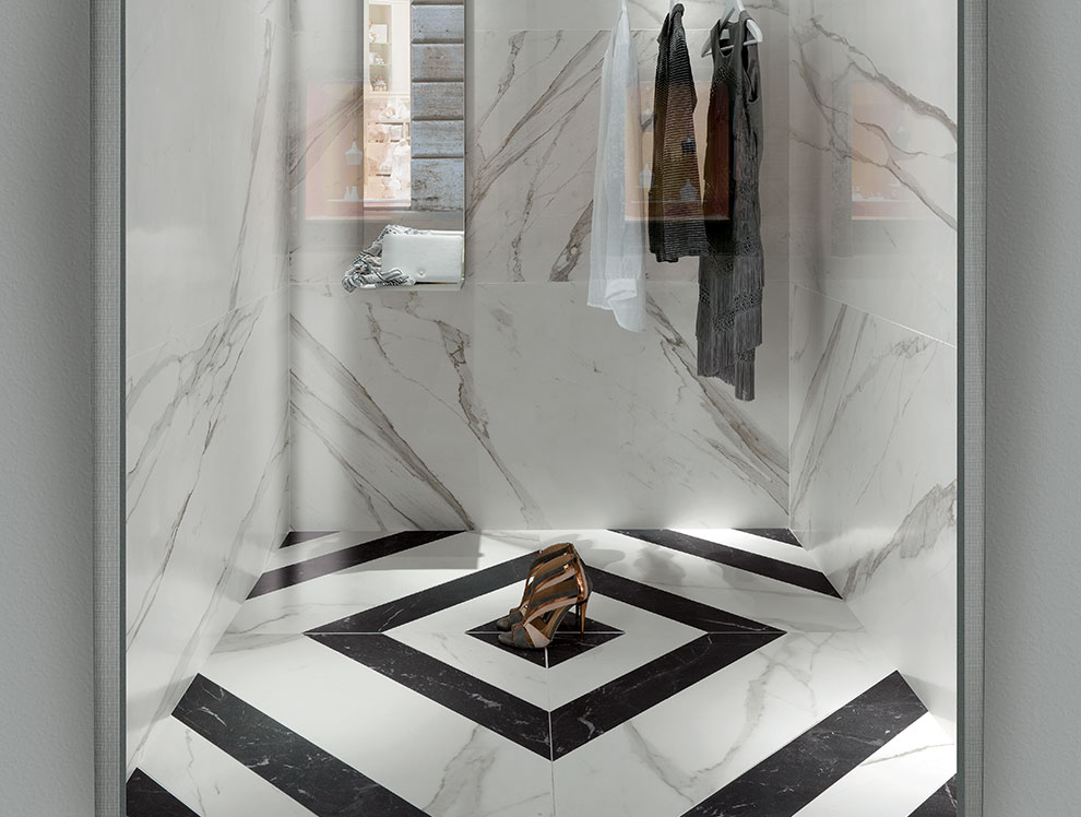 Black and White Marble Tiles Ireland