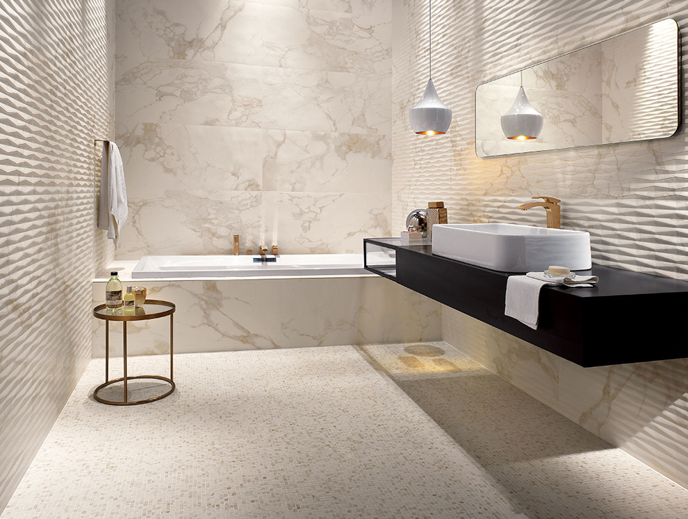 Marble Moisaic Bathroom