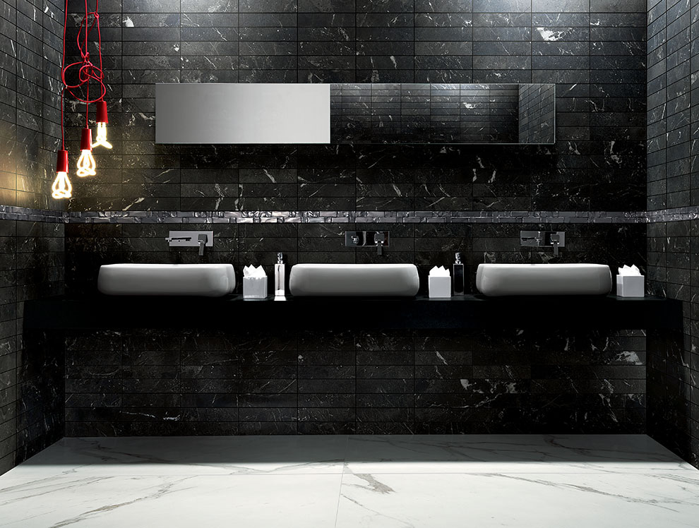 Black Marble Bathroom Tiles