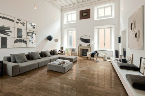 Polished Wood Effect Floor Tiles