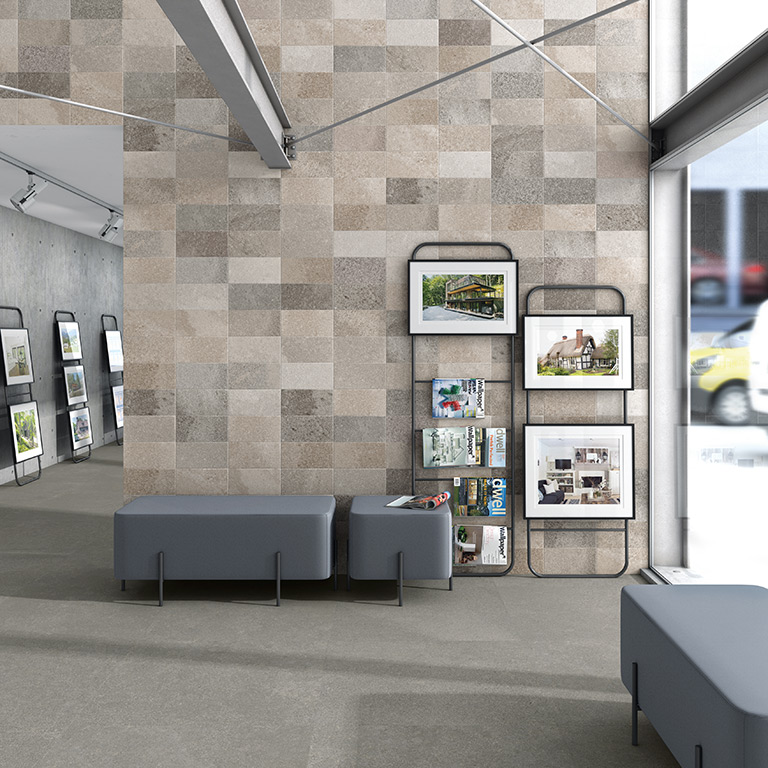Blended Grey Wall and Floor Tiles